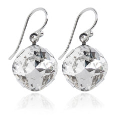 Swarovski crystal earrings in crystal