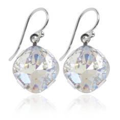 Swarovski crystal earrings in moonlight