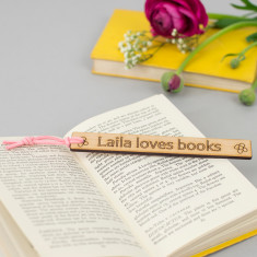 Personalised child's wooden bookmark
