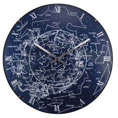 Milky Way glow in the dark Luminous wall clock 35cm domed glass