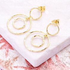 Jaisalmer circle earrings in gold plate