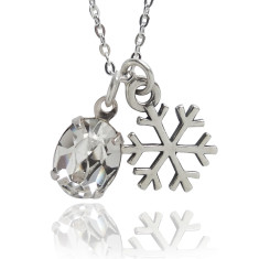 Winter snowflake charm necklace