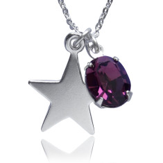 Lucky star charm necklace