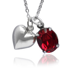 Love heart charm necklace