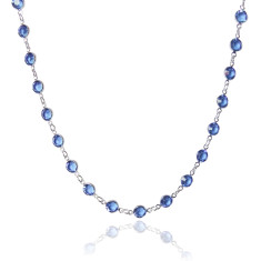 Swarovski crystal jewelled chain in sapphire