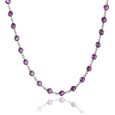 Swarovski crystal jewelled chain in amethyst