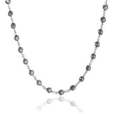 Swarovski crystal jewelled chain necklace in black diamond