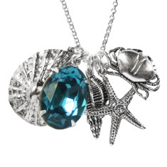 Rockpool charm necklace