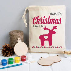 Personalised Christmas Bauble Craft Kit In A Bag