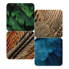 Exotic Feathers Coasters (set of 4)