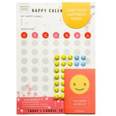 Happy Calendar In Pink Blossom