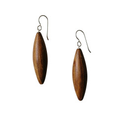 Natural wood willow earrings