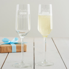 Personalised Groom Champagne Glass