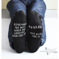 Remember when… Ha Ha! Personalised Parent Socks