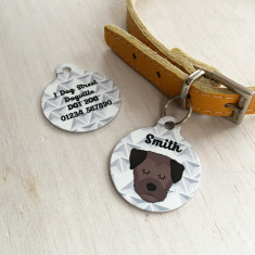 Personalised Geometric Dog Breed ID Tag