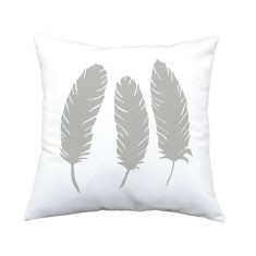 Feathers handmade cushion cover