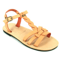 Alaia sandals in salmon