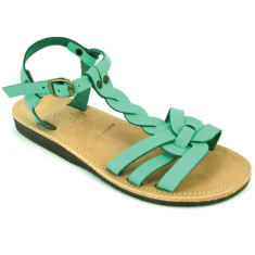 Alaia sandals in sea blue