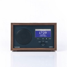 Albergo+ bluetooth digital radio in graphite with real wood cabinet
