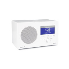Albergo+ bluetooth digital table radio in white