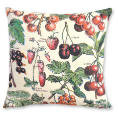 Millot Cherries linen cushion cover