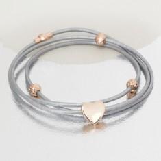Alise personalised leather charm bracelet