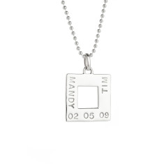 Alice personalised sterling silver pendant