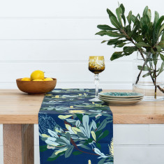 Banksia Table Runner in Navy