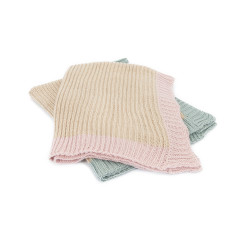 Alpaca chunky knit baby blanket or shawl