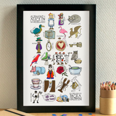 Alice in Wonderland alphabet print