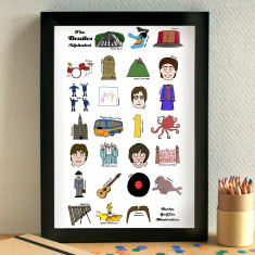 Beatles alphabet print