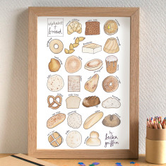 Bread alphabet print