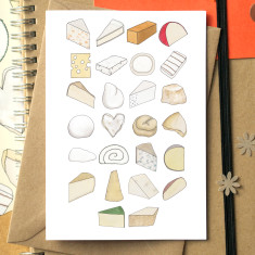 Cheese alphabet greetings card