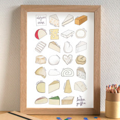 Cheese alphabet print