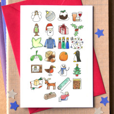 Christmas alphabet card