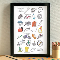 Cycling alphabet print