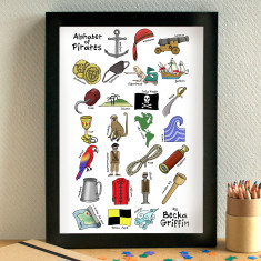 Pirates alphabet print