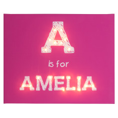 Alphabet scribble typeface illuminated canvas
