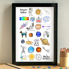 Space alphabet print