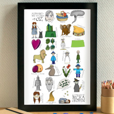 Wizard of Oz alphabet print