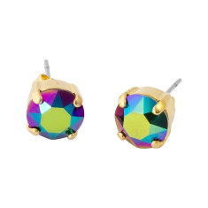 Small stud earrings with Swarovski crystal