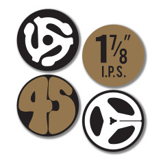 Retro hi-fi coasters (set of 4)