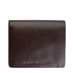 Nathaniel leather wallet in chocolate