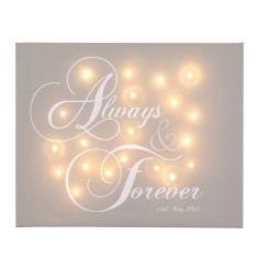Always and forever illuminated canvas