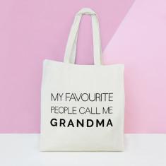 My favourite people call me grandma tote bag