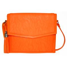Amanda cross body iPad bag in orange