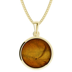 Amber yellow gold-plate pendant