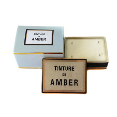 Tinture de Amber ceramic box candle