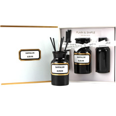 Apothecary amber glass diffuser kits
