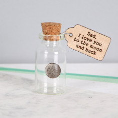 Father's Day Moon & back keepsake message bottle